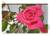 Deep Pink Rose - Summer - Rosebuds Carry-all Pouch