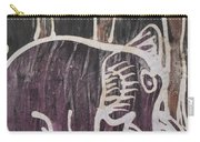 Deep Purple Elephant Painting In The Forest. Carry-all Pouch