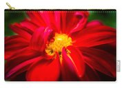 Deep Red Dahlia With Yellow Center Carry-all Pouch