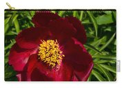 Deep Red Peony With Bright Yellow Stamens  Carry-all Pouch