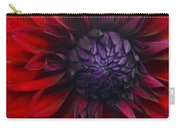 Deep Red To Purple Dahlia Flower Carry-all Pouch