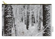 Deep Snow In The Forest Carry-all Pouch