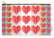 Deeply In Love Cherryhill Flower Petal Based Sweet Heart Pattern Colormania Graphics Carry-all Pouch