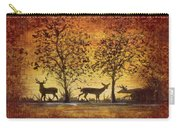 Deer At Sunset On Damask Carry-all Pouch