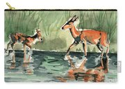 Deer At The River Carry-all Pouch