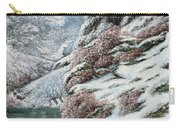 Deer In A Snowy Landscape Carry-all Pouch