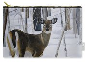 Deer In The Snow Carry-all Pouch