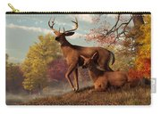 Deer On An Autumn Lakeshore  Carry-all Pouch