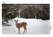 Deer On Side Of Road Carry-all Pouch
