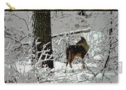 Deer On Snowy Trail Carry-all Pouch