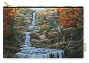 Deer Painting - Tranquil Deer Cove Carry-all Pouch by Crista Forest