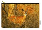 Deer Spotted In A Golden Glowing Field  Carry-all Pouch