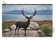 Deer Statute On Antelope Island  Carry-all Pouch