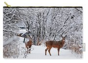 Deers In Winter Carry-all Pouch
