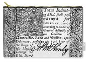 Delaware Banknote, 1776 Carry-all Pouch