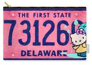 Delaware License Plate Carry-all Pouch