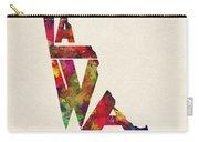 Delaware Typographic Watercolor Map Carry-all Pouch