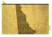 Delaware Word Art State Map On Canvas Carry-all Pouch by Design Turnpike