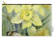 Delias Mysis Union Jack Butterfly On Daffodils Carry-all Pouch