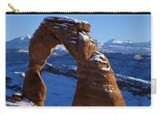 Delicate Arch In Snow Arches National Park Utah Carry-all Pouch