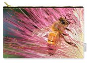 Delicate Embrace - Bee And Mimosa Carry-all Pouch