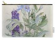 Delphiniums Carry-all Pouch by James Valentine Jelley