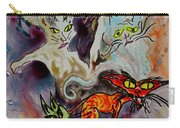 Demon Cats Haunted Carry-all Pouch