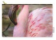 Demure Flamingo - Digital Art Carry-all Pouch