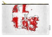 Denmark Painted Flag Map Carry-all Pouch
