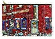Depanneur Centre Pointe St Charles Montreal Verdun Paintings Hockey Art City Scenes Cspandau Carry-all Pouch