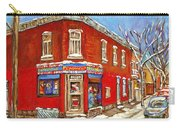 Depanneur Surplus De Pain Point St Charles Montreal Winterscene Paintings Cspandau Originals Prints  Carry-all Pouch
