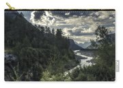 Desaturated Mountainscape Carry-all Pouch