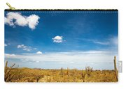 Desert Landscape With Deep Blue Sky Carry-all Pouch