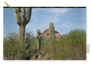 Desert Landscape With Saguaro Carry-all Pouch