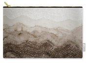 Desert Mountain Mist Original Painting Carry-all Pouch