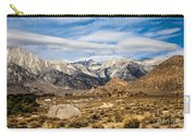 Desert View Of Majestic Mount Whitney Mountain Peaks With Clouds Carry-all Pouch