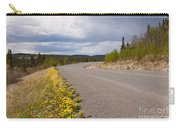 Deserted Rural Highway Yukon Territory Canada Carry-all Pouch
