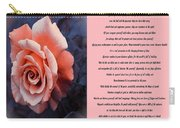 Desiderata Coral Rose Sidebyside Carry-all Pouch