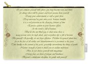 Desiderata Gold Bond Scrolled Carry-all Pouch by Movie Poster Prints