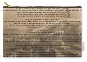 Desiderata Military Carry-all Pouch
