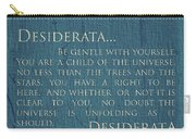 Desiderata On Canvas Carry-all Pouch
