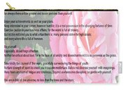 Desiderata On Garden Scene With Pink Roses Carry-all Pouch