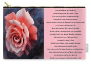 Desiderata Orange Rose Sidebyside Carry-all Pouch