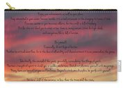 Desiderata Sky Carry-all Pouch