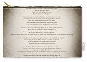 Desiderata - Vintage Sepia Carry-all Pouch