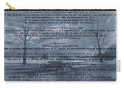 Desiderata Winter Scene Carry-all Pouch