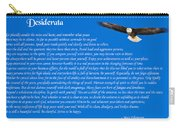 Desiderata With Bald Eagle Carry-all Pouch