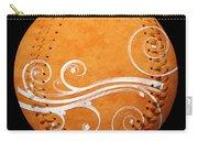 Designer Orange Baseball Square Carry-all Pouch