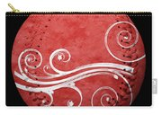 Designer Red Baseball Square Carry-all Pouch by Andee Design
