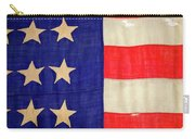 Detail Of A Civil War Flag In Drummer Carry-all Pouch